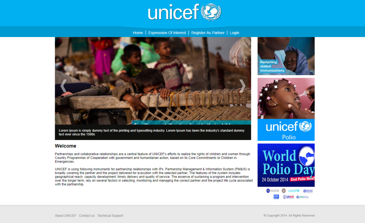 UNICEF – Partnership Management Information System & UN CPP